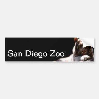サンディエゴの動物園のトラ バンパーステッカー