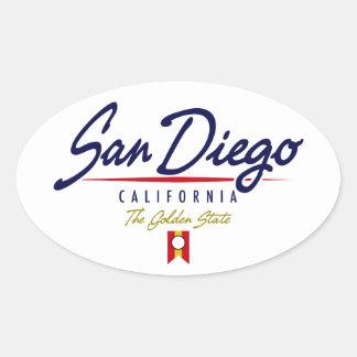 サンディエゴの原稿 楕円形シール