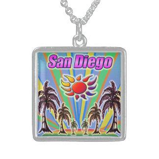 サンディエゴの夏愛ネックレス スターリングシルバーネックレス