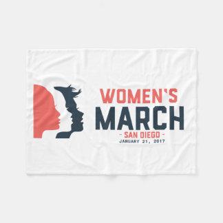 サンディエゴの女性の3月のフリースブランケット フリースブランケット