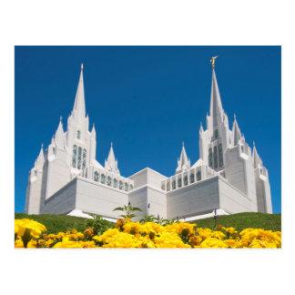 サンディエゴの寺院の郵便はがき ポストカード