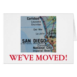 サンディエゴの引っ越しましたの住所発表 カード