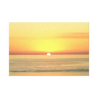 サンディエゴの日没 キャンバスプリント