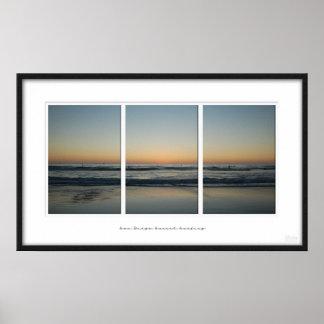 サンディエゴの日没 ポスター