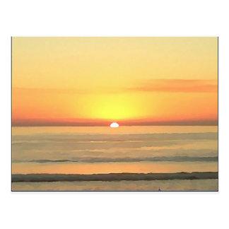 サンディエゴの日没 ポストカード