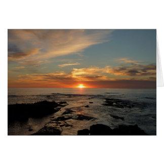 サンディエゴの日没IIカリフォルニアの海景 カード