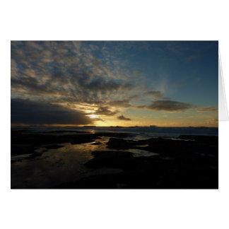 サンディエゴの日没IIIのカリフォルニア圧倒する景色 カード