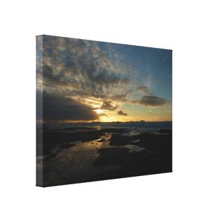 サンディエゴの日没IIIのカリフォルニア圧倒する景色 キャンバスプリント
