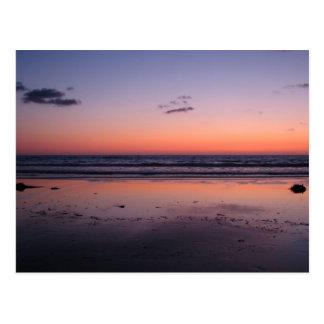 サンディエゴの近くの日没 ポストカード
