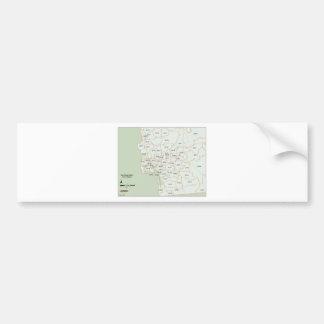 サンディエゴの郵便番号地図 バンパーステッカー
