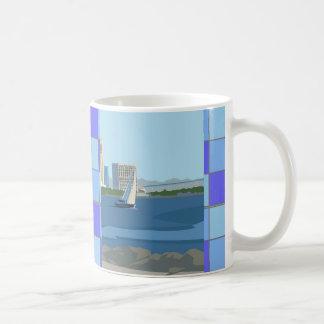 サンディエゴはマグを市松模様にしました コーヒーマグカップ