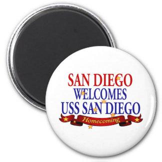 サンディエゴはUSSサンディエゴを歓迎します マグネット