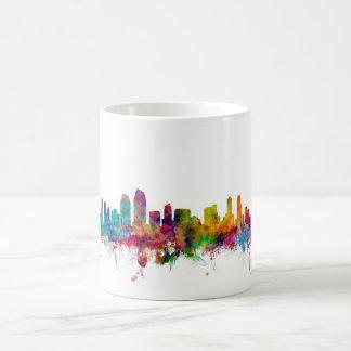 サンディエゴカリフォルニアのスカイライン コーヒーマグカップ