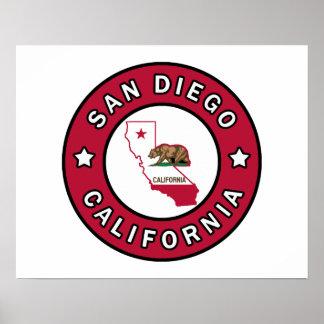 サンディエゴカリフォルニア ポスター