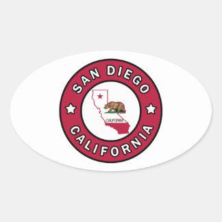 サンディエゴカリフォルニア 楕円形シール