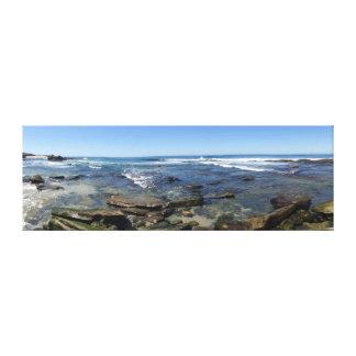 サンディエゴカリフォルニアLa Jollaのビーチ キャンバスプリント