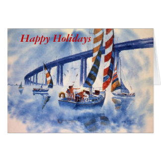 サンディエゴ湾の幸せな航行 カード