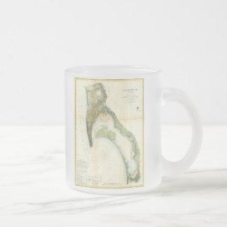 サンディエゴ湾(1857年)のヴィンテージの地図 フロストグラスマグカップ