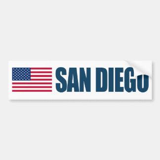 サンディエゴ米国の旗 バンパーステッカー