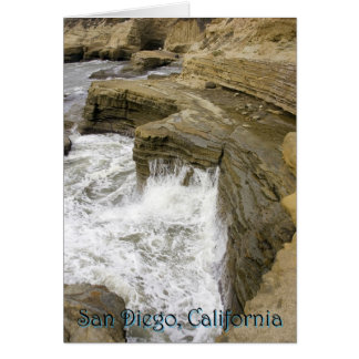 、サンディエゴ衝突する、波青い影とのカリフォルニア カード