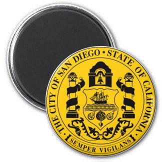 サンディエゴ、カリフォルニアのロゴ マグネット