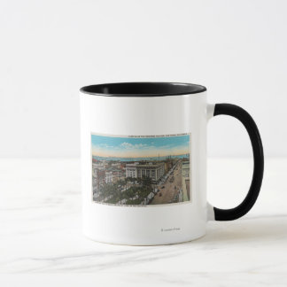 サンディエゴ、カリフォルニア-繁華街の鳥瞰的な眺め マグカップ