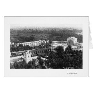 サンディエゴ、バルボア公園の写真のカリフォルニアの眺め カード