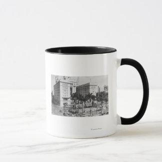 サンディエゴ、米国グラントのホテルのカリフォルニア都市眺め マグカップ