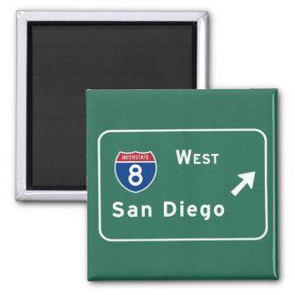サンディエゴI-8の西の出口州連帯カリフォルニアカリフォルニア- マグネット