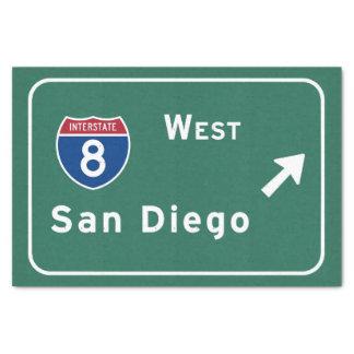 サンディエゴI-8の西の出口州連帯カリフォルニアカリフォルニア- 薄葉紙