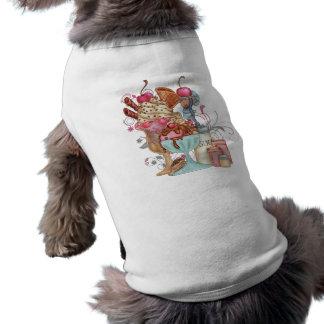 サンデーのシェフ犬のワイシャツ ペット服