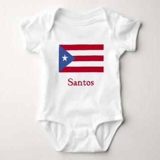 サントスのプエルトリコ人の旗 ベビーボディスーツ