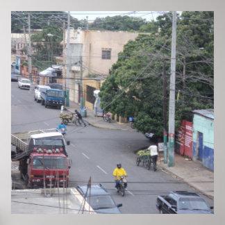 サント・ドミンゴのドミニカ共和国の近隣 ポスター