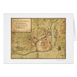 サント・ドミンゴのドミニコ共和国の地図1805年 カード