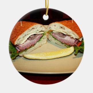 サンドイッチスマイル セラミックオーナメント