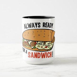 サンドイッチ名前をカスタムするのマグ マグカップ