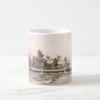 サンドイッチ島のカヌー。 ハワイ。 c. 1778年 コーヒーマグカップ
