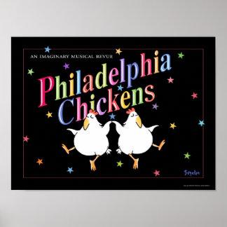 サンドラBoynton著フィラデルヒィアの鶏ポスター ポスター