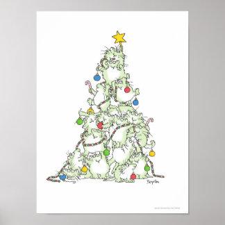 サンドラBoynton著猫ちゃんポスターのクリスマスツリー ポスター