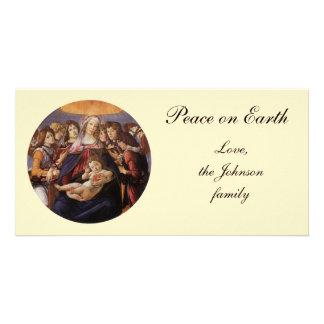 サンドロ・ボッティチェッリ著天使のマドンナそして子供 カード
