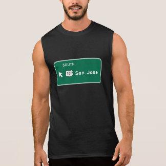 サンノゼのカリフォルニアの交通標識 袖なしシャツ