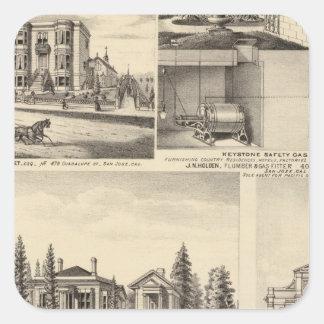 サンノゼの住宅、ビジネス、大学 スクエアシール