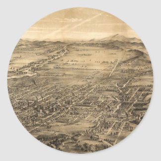 サンノゼカリフォルニア(1869年)のヴィンテージの絵解き地図 ラウンドシール