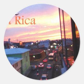 サンノゼコスタリカの日没 ラウンドシール
