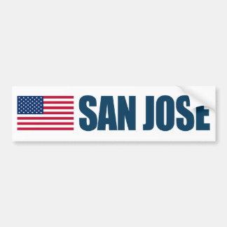 サンノゼ米国の旗 バンパーステッカー