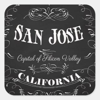 サンノゼ、カリフォルニア-シリコン・バレーの首都 スクエアシール