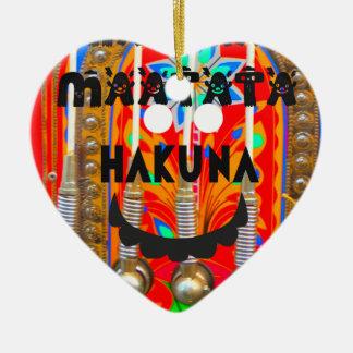 サンバのカーニバルはHakuna Matata blings.pngを着色します セラミックオーナメント