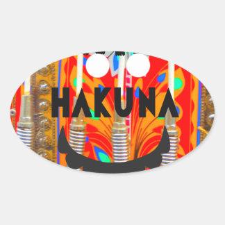 サンバのカーニバルはHakuna Matata blings.pngを着色します 楕円形シール