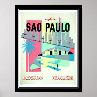 サンパウロブラジル旅行ヴィンテージポスター ポスター