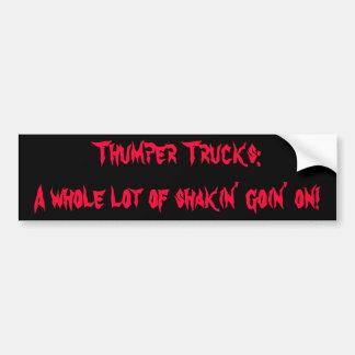 サンパーのトラック: 続く多くのshakin! バンパーステッカー
